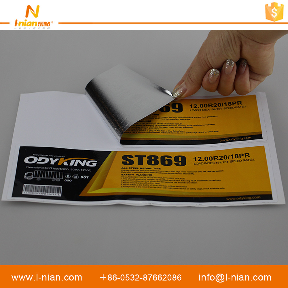 High Quality Custom Tire Labels Self Adhesive Tyre Stickers