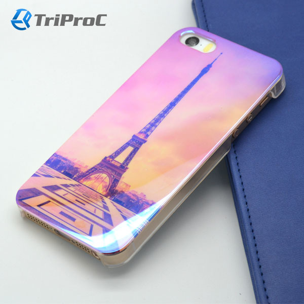 OEM Customized Blue Film Coated Polycarbonate PC Smart Cell Mobile Phone Case for iPhone 5/5s