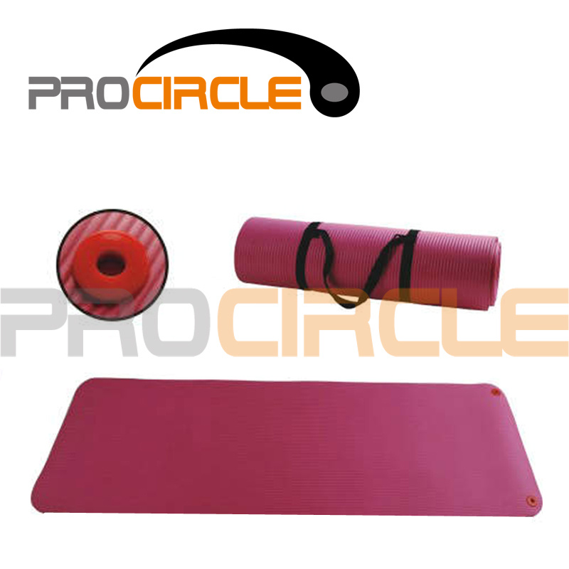 NBR Yoga Mat Exercise Mat Pilates Mat with Portable Belt (PC-YM4011-4012)