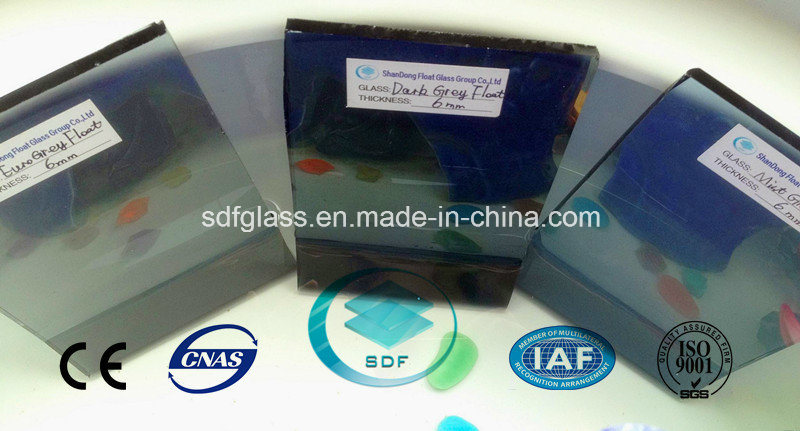 Euro Grey/Dark Grey/Mist Grey Float Glass with Ce ISO (4 TO 10mm)
