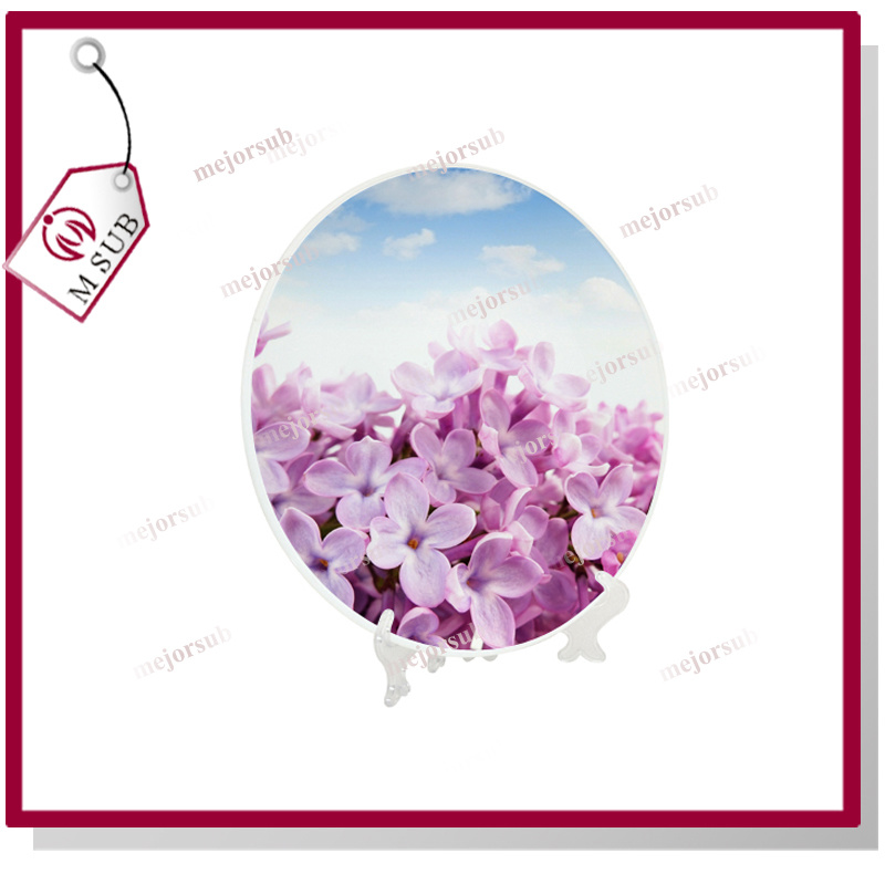 10′′ Round Full Wrap Printing Sublimation Glass Plates