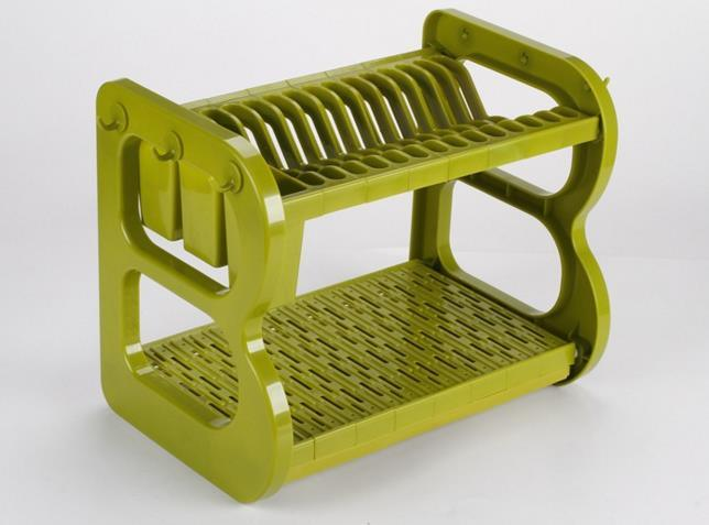 Colorful ABS Kitchen Dish Drainer Rack 2 Layers Dr16-BBS