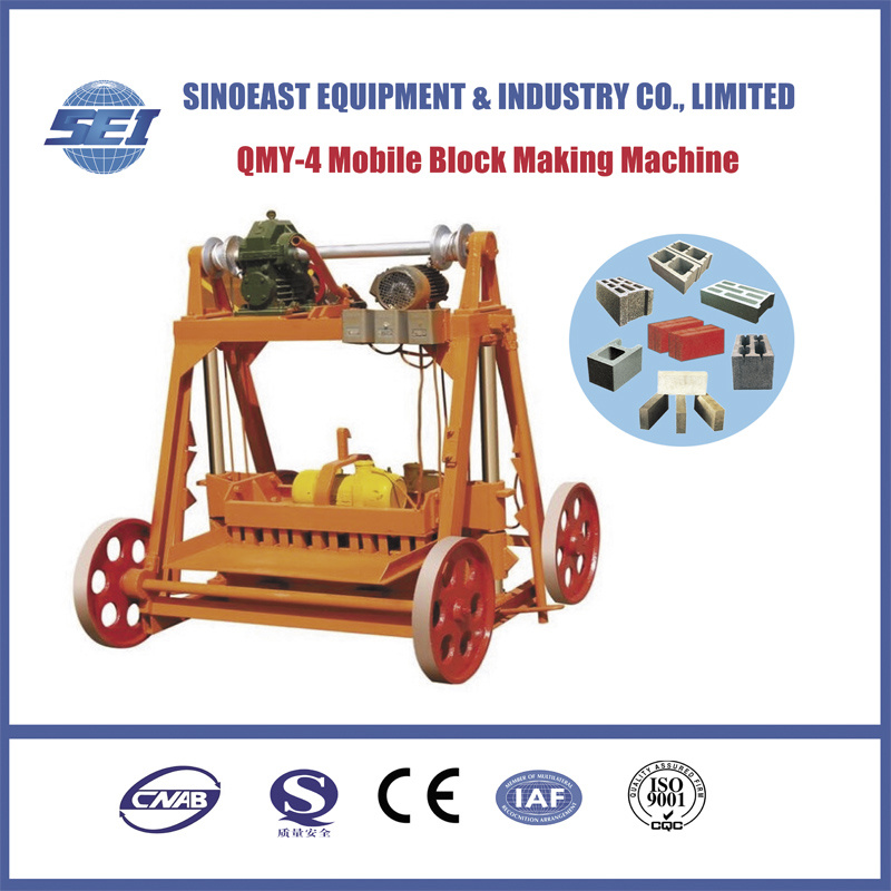 Qmy-4 Mobile Concrete Block Machine