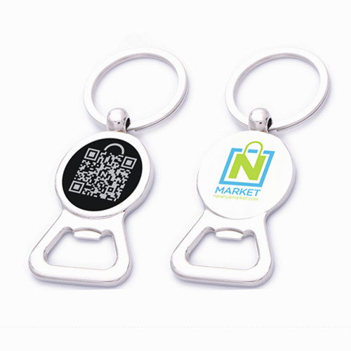 Competitive Promotion Metal Bottle Opener with Qr Code Logo (F5018E)