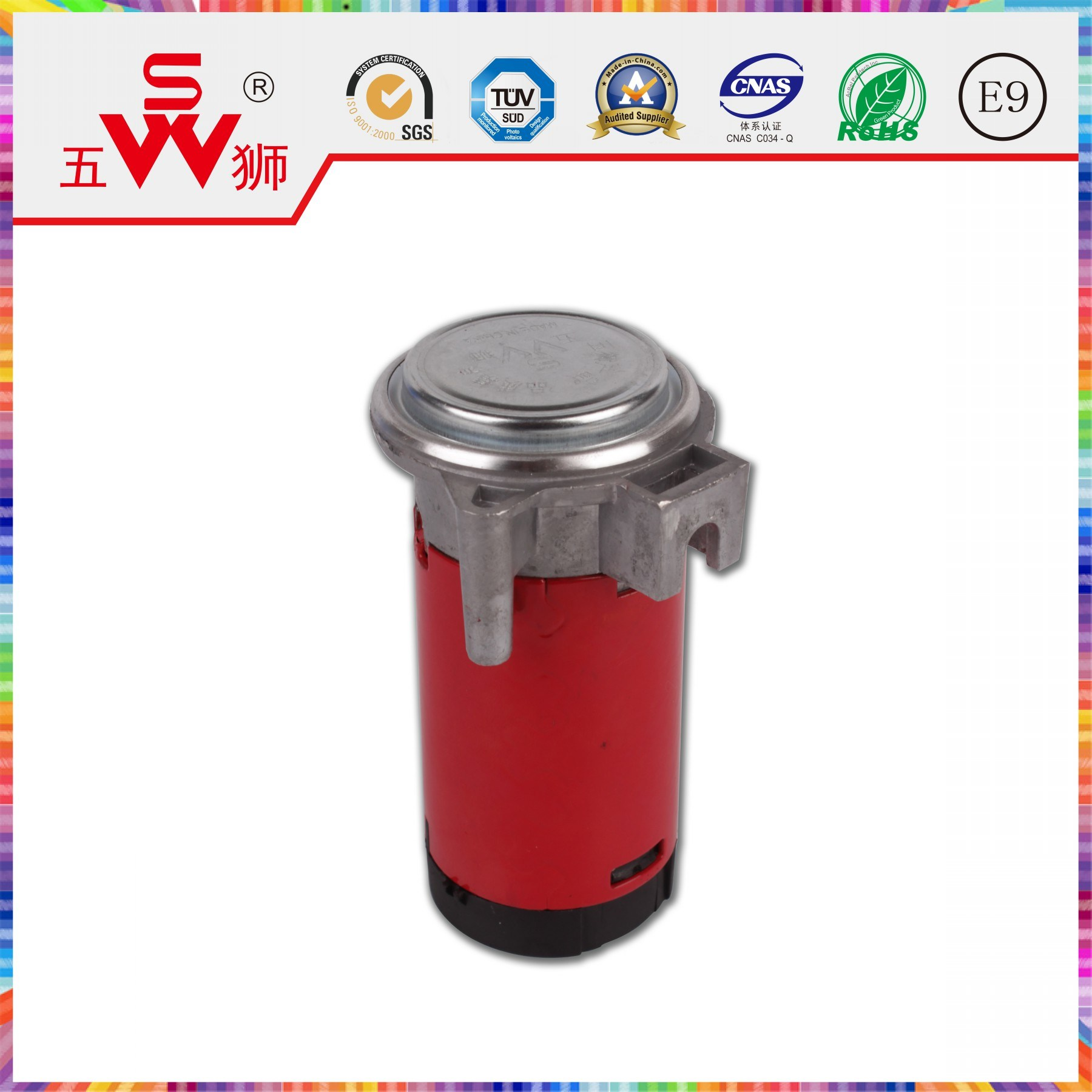 Red 115mm Air Cooling Electric Motor