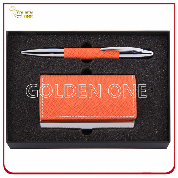 Promotional Click Pen & Card Holder Gift Set