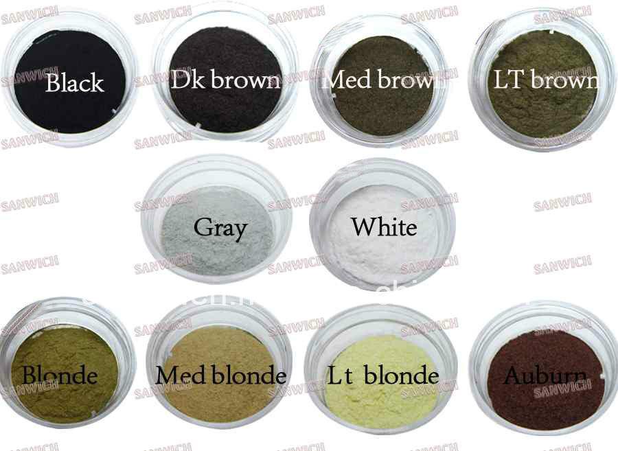 10 Colors Mini Spray Fiber Anti Hair Loss Keratin Hair Building Fibers
