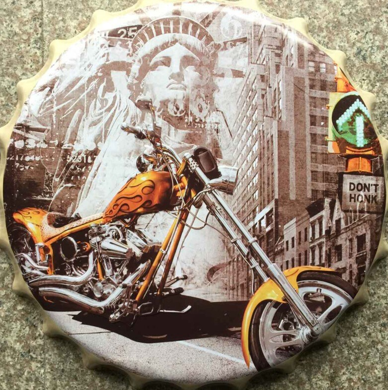 England Style Metal Signs Decorative Bottle Cap Craft for Decor