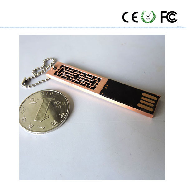 Custom Logo on The Metal Bookmark with The U Disk USB Flash Drive