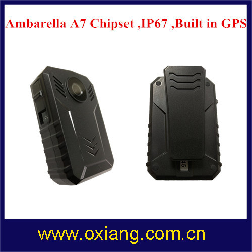 Multi-Functional Built in GPS IP67 1080P Police Body Worn Audio / Visual / Video Recorder