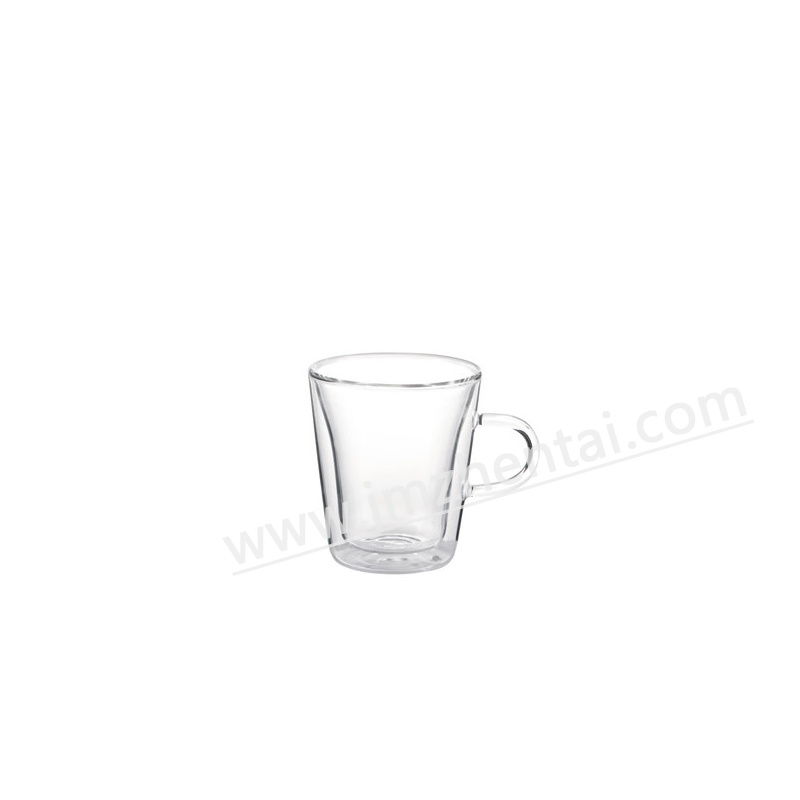 Double Wall Handle Pyrex Glass Tea Cup