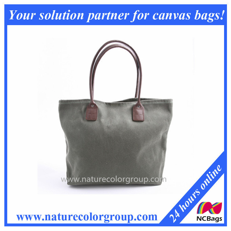 4 Colors Designer Waxed Canvas Tote Handbag