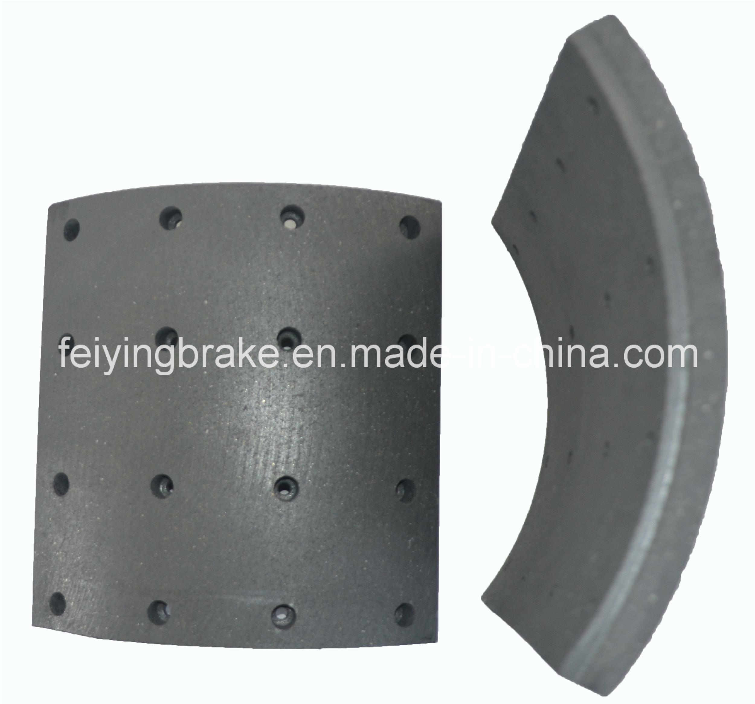 Brake Lining Auto Spare Part for Semi-Metal Asbestos (WVA: 19933 BFMC: SV/42/2) for European Truck