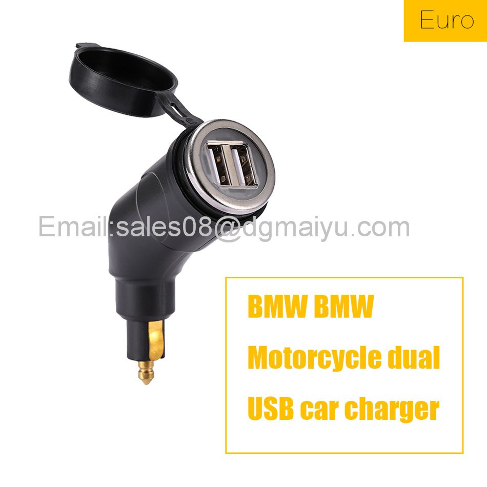 Motorcycle for BMW DIN Hella Socket Dual USB Charger for Phone