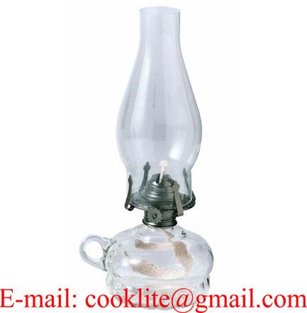 Clear Glass Paraffin Hurricane Lamps Kerosene Oil Lamps