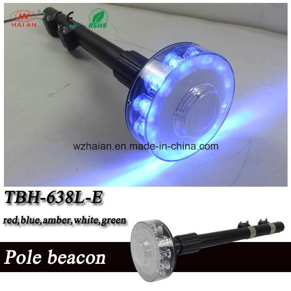 Flash Pole Beacon Lights/LED Safety Warning Strobe Pole Beacon for Police Motorcycle Bike