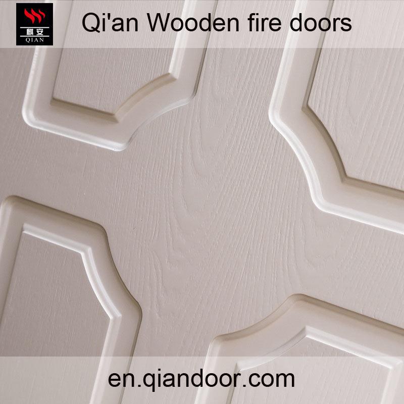 Interior European Style Wooden Fire White Door