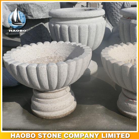 Garden Decoration Granite Flower Pot Stone Products