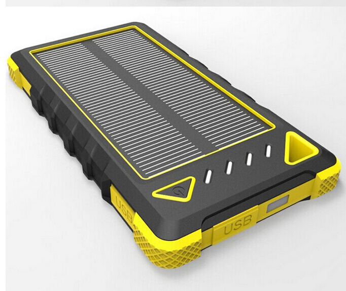 8000mAh Wateproof Power Bank Portable Solar Mobile Charger