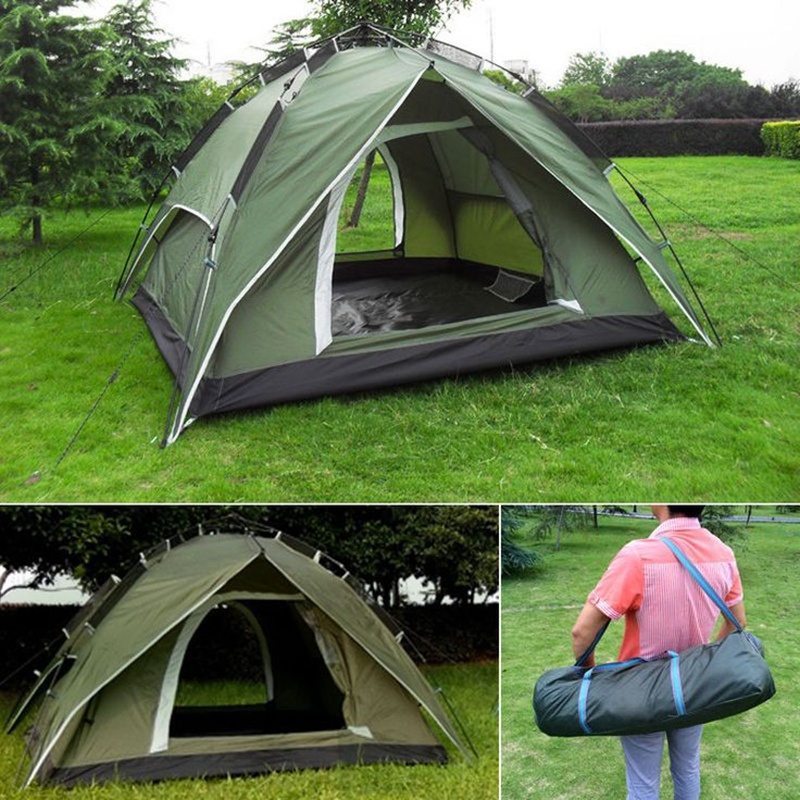 Fibreglass Pole Aluminium Alloys Outdoor Camping Tents with High Quality