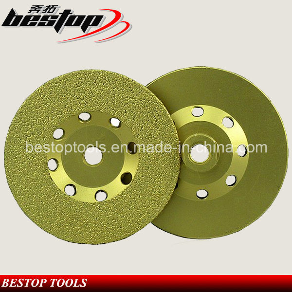 Vacuum Brazed Cup Shape Diamond Grinding Wheel for Concrete
