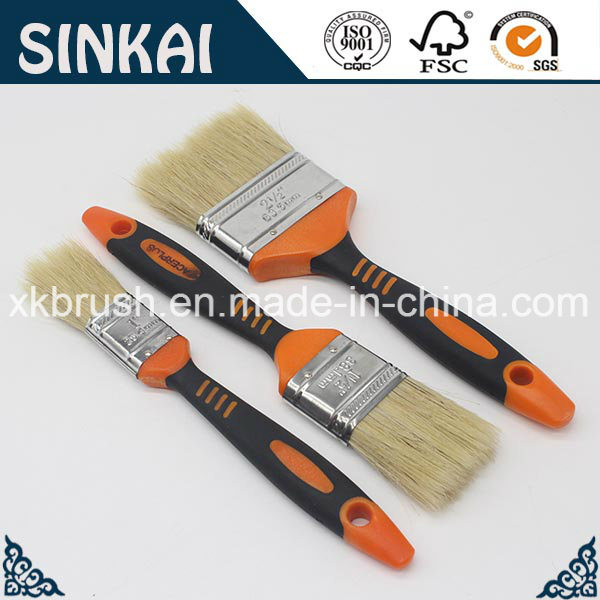 Factory Price Rubber Handle Brushes with Natural Bristle
