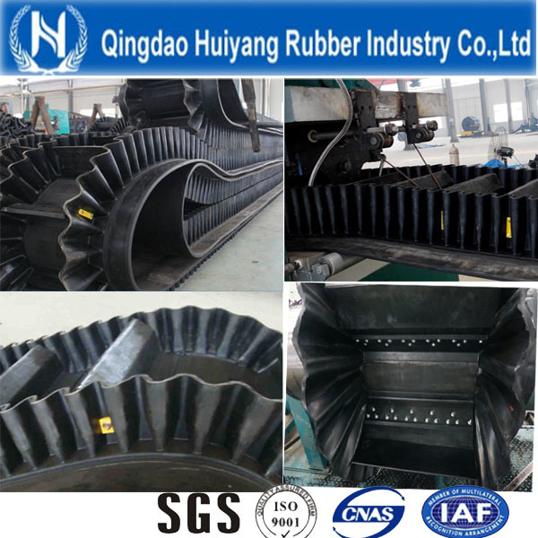 Corrugated Sidewall Cleated Rubber Conveyor Belt (S60)