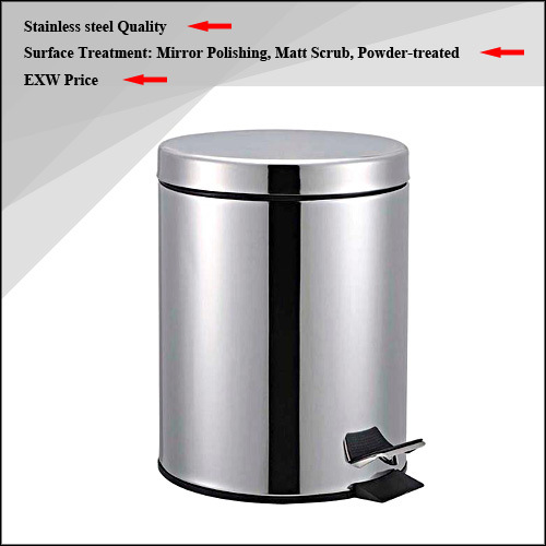 High Quality Stainless Steel Waste Bin / Dust Bin / Trash Bin / Rubbish Bin (3L/5L)