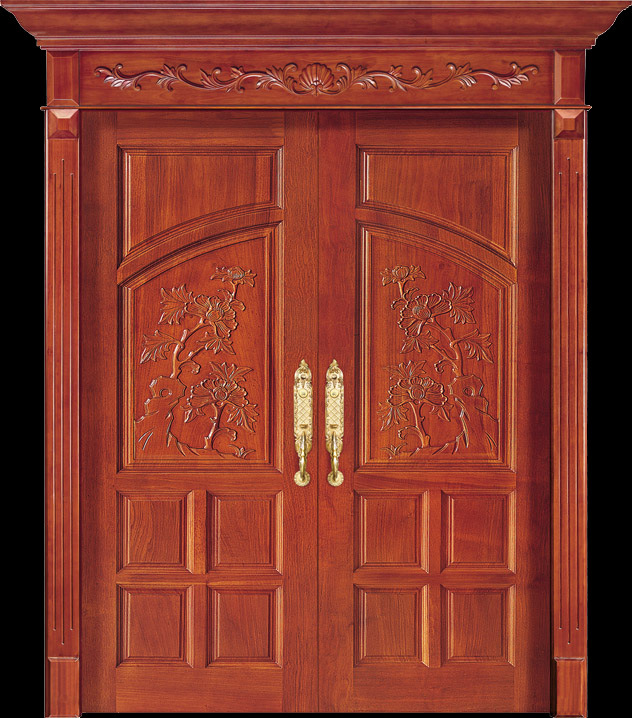 China Luxury Teak Wood Double Door Design CL 2047 Photos Pictures M