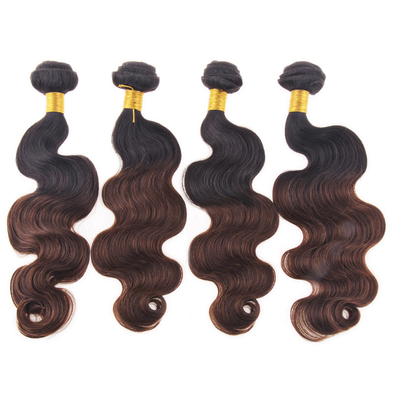 Brazilian /Indian /Chinese Remy Human Hair Body Wave Tn Color