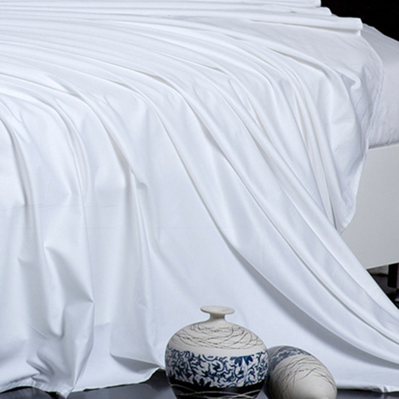 Cotton Hotel Bedding Set (BE-004) Manufacturer White Bed Sheet