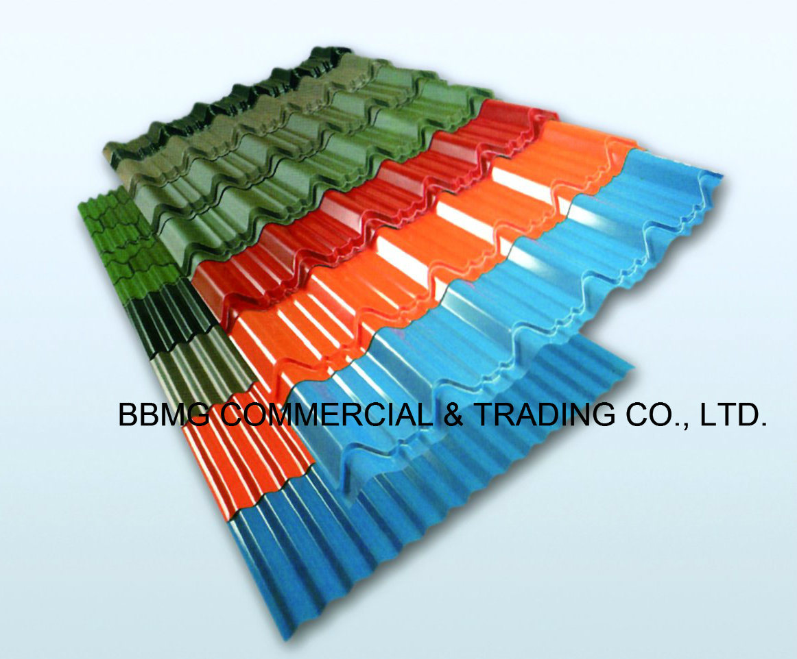 PPGI Color Coated Corrugated Roofing Sheets CGCC