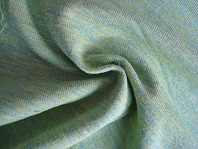 Cotton and Wool Heather Knit Fabrics