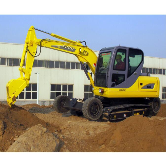 World No. 1 Unique Design Wheel and Crawler Excavator with Patent