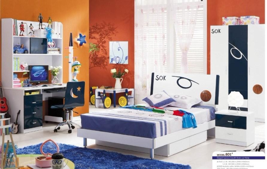 China Children Furniture Boys Bedroom Set (801) Photos & Pictures ...