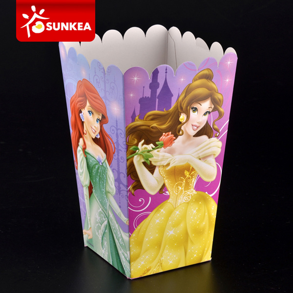 Custom Logo Square Bottom Paper Popcorn Box