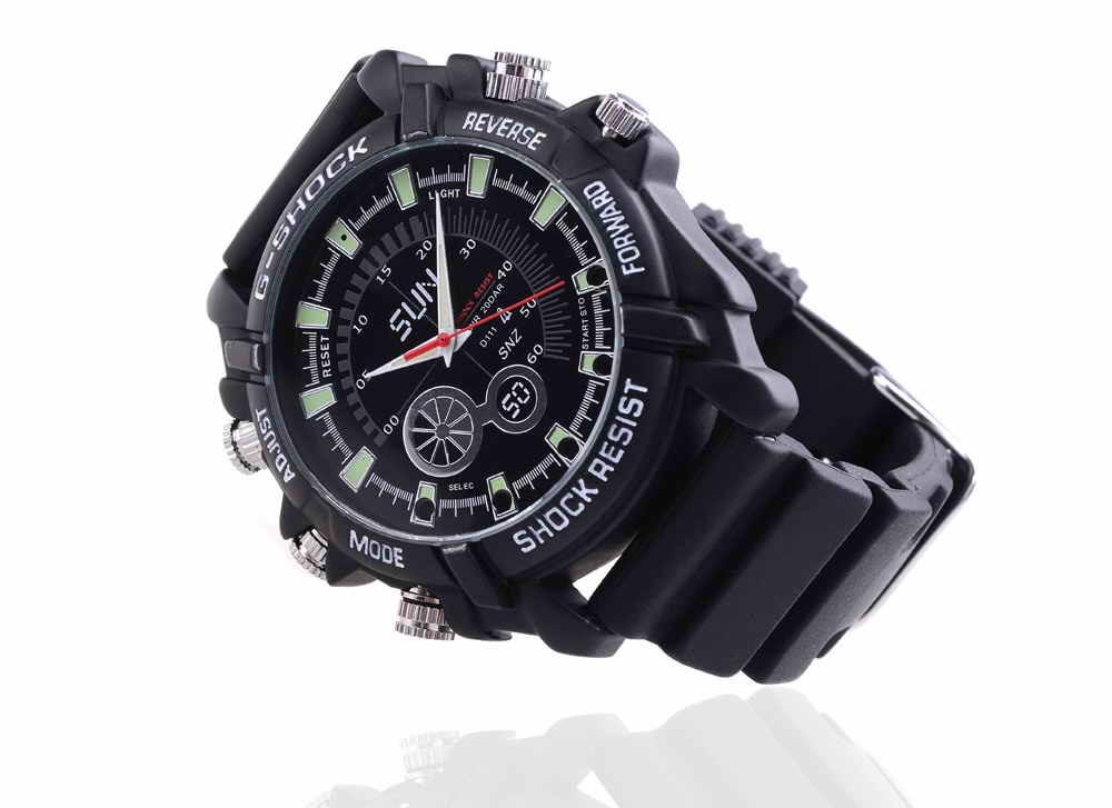 Camera Watch 1080p Waterproof Micro 4LED for Night Vision Video Surveillance 4GB-16GB (QT-IR010)