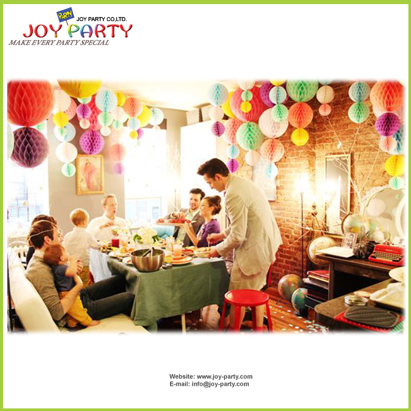 Tissue Paper Honeycomb Paper Ball Home Party Decoration