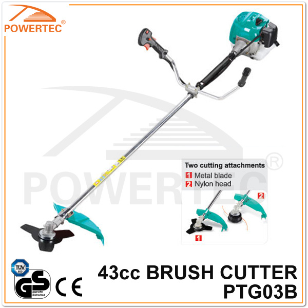 Powertec CE GS 43cc Gas Brush Cutter (PTG03B)