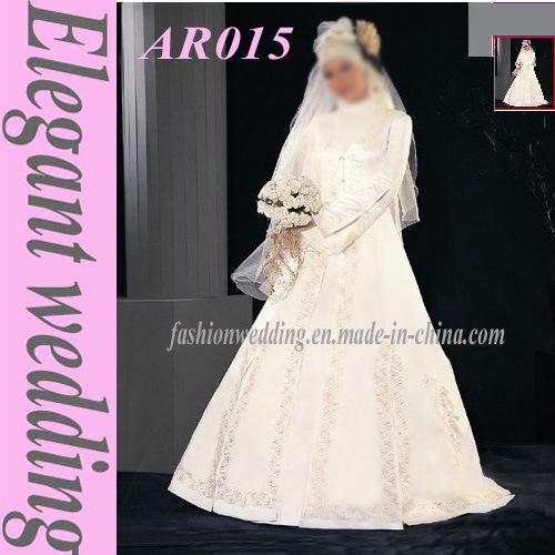 Arab Wedding Dress With Free Veil AR015