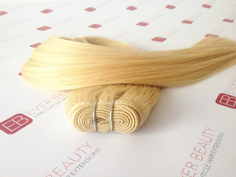 Machine Made Hair Weft 100% Remy Human Hair No Tangle