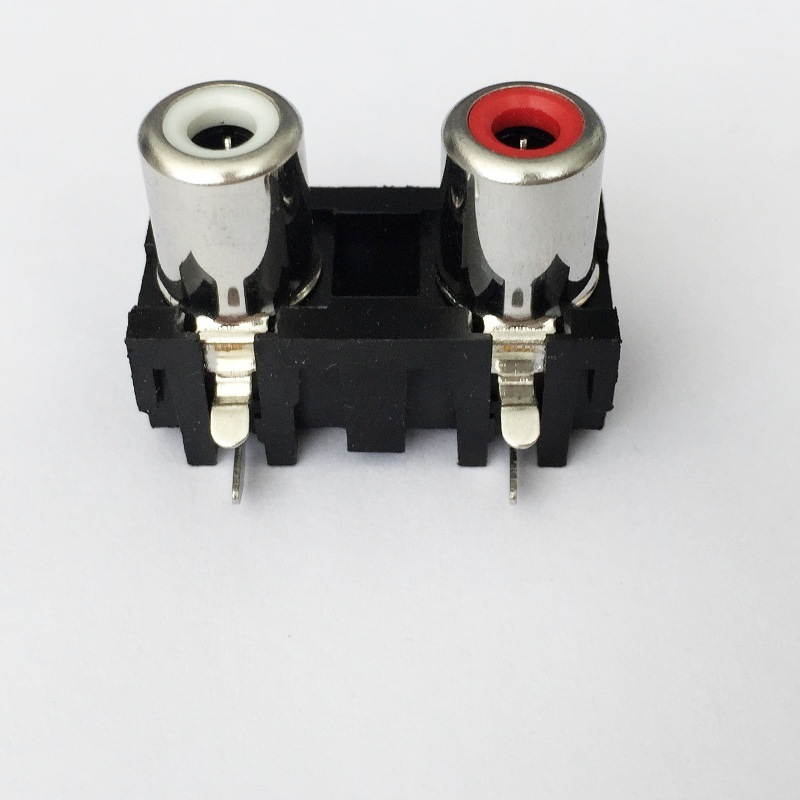AV Socket with The Core Lotus Single-Hole RCA Socket Audio and Video Terminals AV2-8.4-5