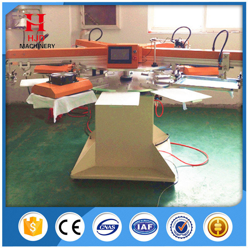Single Color Automatic Rotary Label Silk Screen Printing Machine