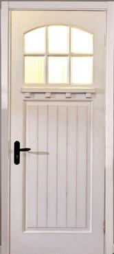 Solid Entrance Wood Door/Classic Timber Door/ Wooden Door for Villa/White Wood Door