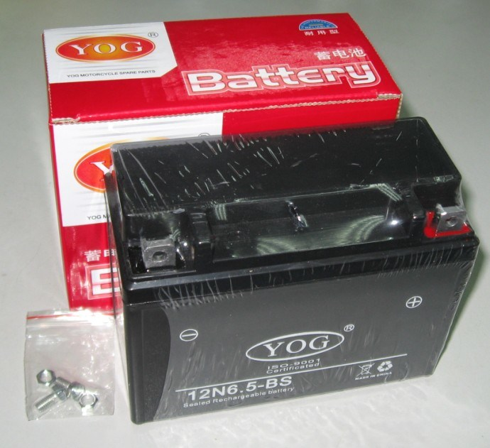 Yog Motorcycle Parts Motorcycle Battery for Yb6.5L-BS Cg125 (Maintenance  Free)