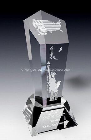 American Spirit Crystal Award Trophy (SPR7)