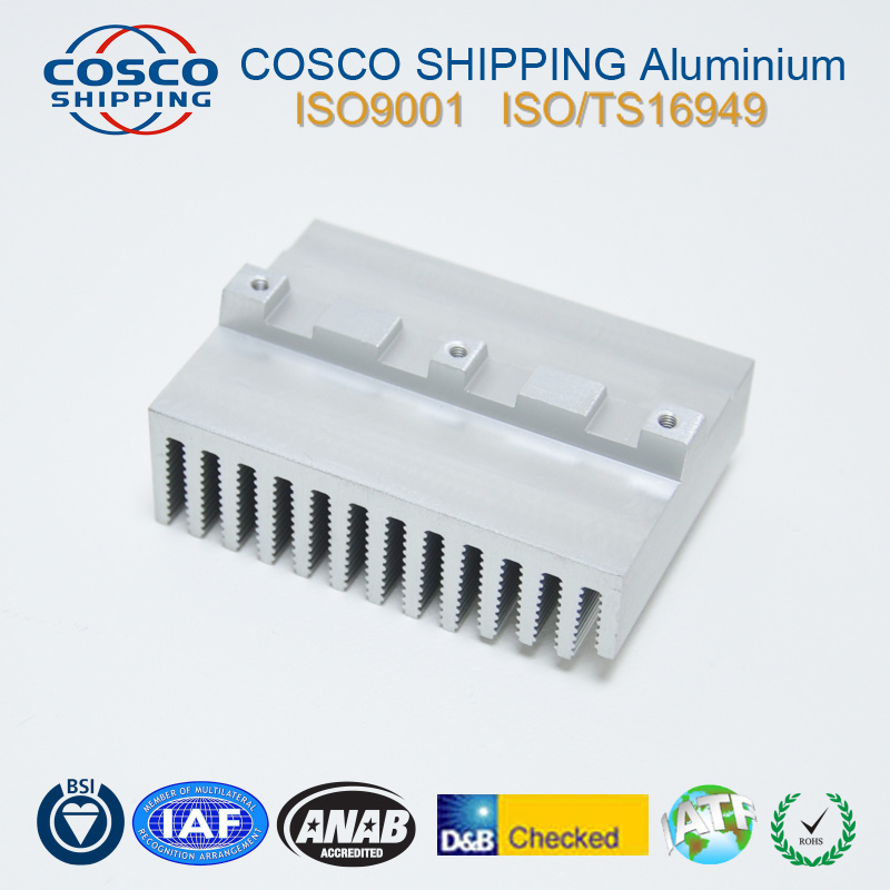 Aluminum Extrusion Profile for Heat Sink with Anodizing & CNC Machining