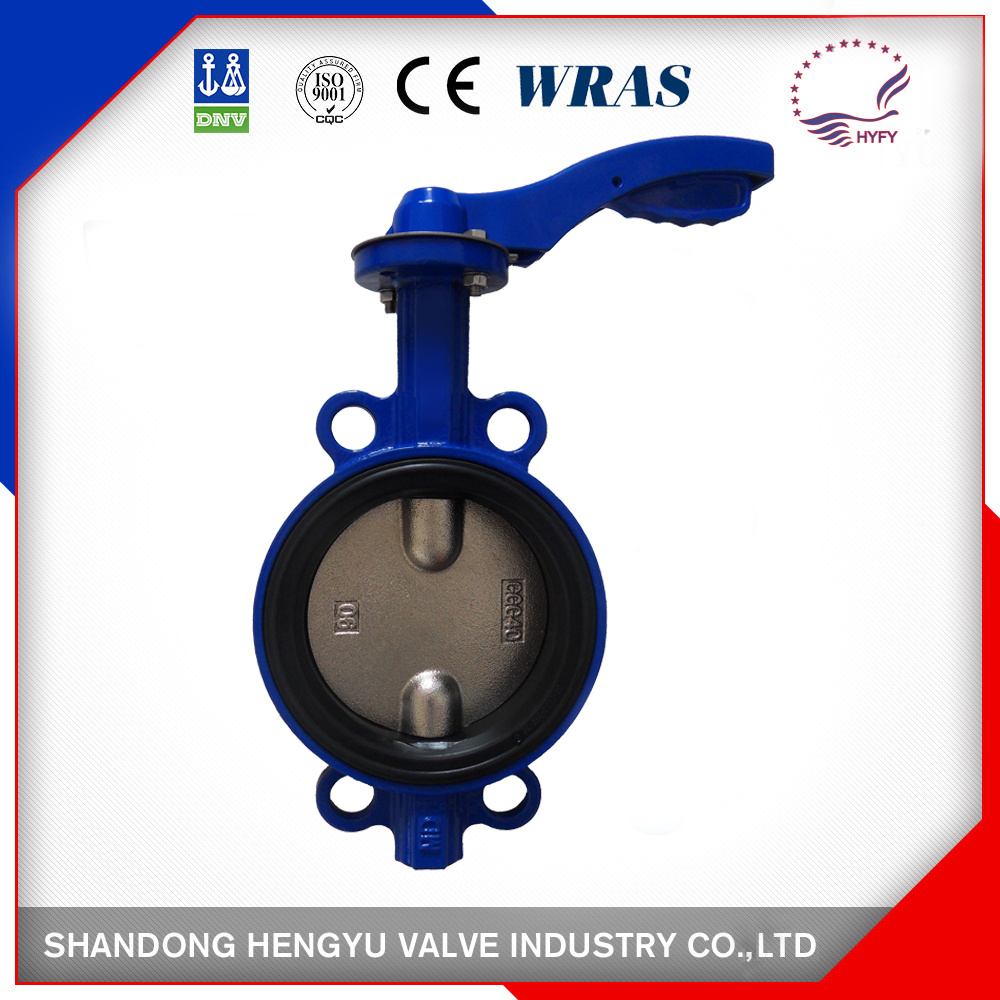 Soft Seated Wafer Type Industrial Butterfly Valve with Two Stem
