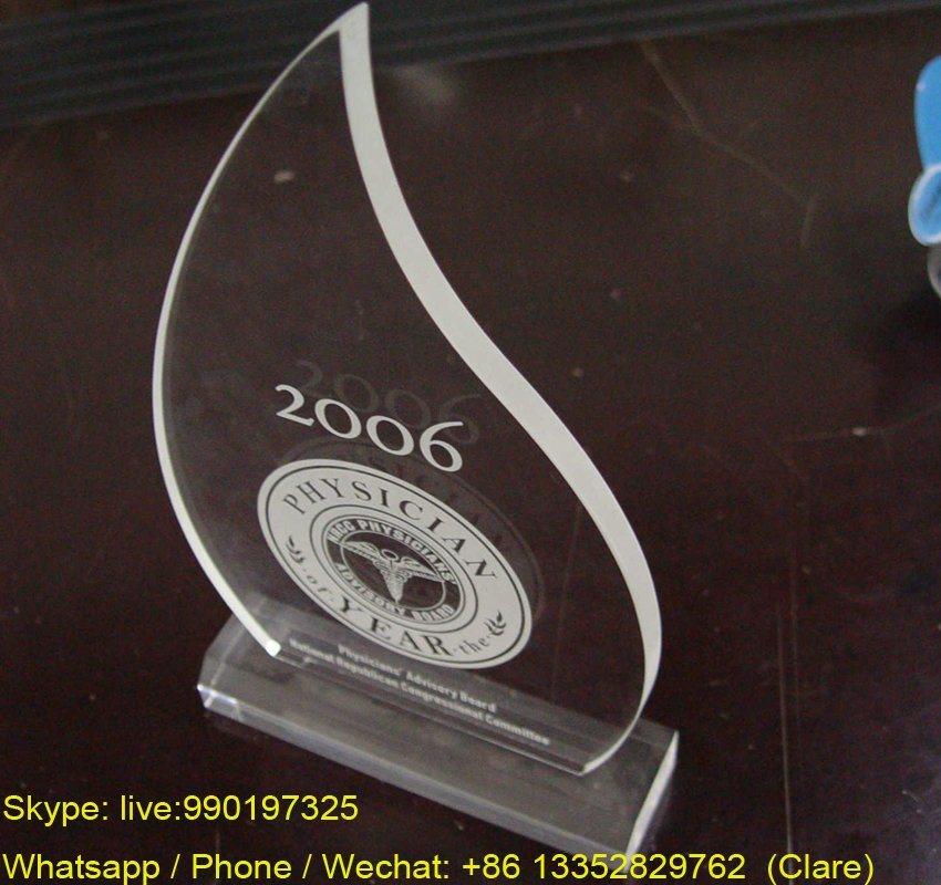 OEM Laser Engraving Plexiglass / Pespex Trophy Award