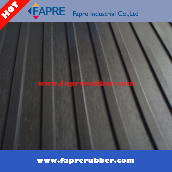 Non-Slip Ribbed Rubber Mat, Safety Rubber Floor
